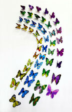 4 Sets of 48 Butterflies Refrigerator Magnets 3D Wall Sticker