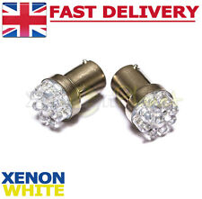 2x 9 LED NUMBER PLATE BULBS HIGH BRIGHTNESS FANTASTIC UPGRADE 6000K XENON WHITE