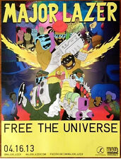 MAJOR LAZER Free The Universe Ltd Ed Discontinued RARE Poster! Peace Is Mission