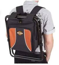 Harley Davidson Backpack Cooler Seat Orange & Black