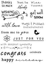 Sweet Dixie IT'S ALL IN THE WORDS Clear stamps - supportive sentiments & phrases