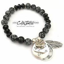 I Love You Mum Bracelet Live Your Dream Tree Of Life Angel Feather Great Gift