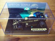 1/43 AYRTON SENNA No 12 LOTUS 98T RENAULT TURBO 1986