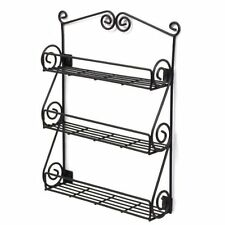 Spectrum Diversified 43710 Scroll Spice Wall Mount Rack, Black