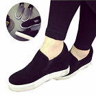 Women Height Increasing Platform Wedge Heel Suede Shoes Creeper Loafer Sneaker