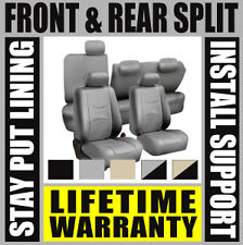 SOLID GRAY COMPLETE FULL CAR SEAT COVERS SET - OEM Split Fold Soft Truck SUV B36