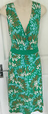 MONSOON STUNNING PLUNGING JERSEY DRESS SZ 20 PRE OWNED