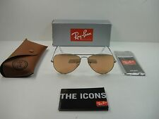 RAY-BAN AVIATOR SUNGLASSES RB3025 019/Z2 SILVER FRAME/PINK MIRROR LENS 58MM