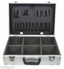 42cm Lockable Aluminium Flight Carry Case With Foam Inserts- 2 keys Tool Storage