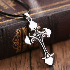 New Gift Unisex's Men's Cool Mens Stainless Steel Pendant Cross Necklace Chain