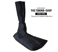 FOR PORSCHE BOXSTER 986 96-04 5 SPEED BLACK SUEDE GEAR BOOT WITH GREY STITCH
