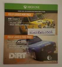 Dirt Rally Mini and Ford Pack DLC Xbox One (NOT FULL GAME)