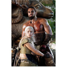 Game of Thrones Jason Momoa as Kahl Drogo with Daenerys by Ram 8 x 10 Inch Photo