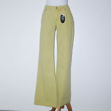 $147 Bella Dahl Light Green Striped Boutique Jeans Flared Leg Size 29