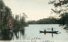 Nikko,Japan,Yumoto Lake with Boat,Used,1908,With Japanese Stamp,To Canaan NH.VGC
