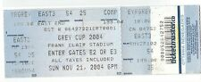 2004 Ottawa Lansdowne Park Frank Clair Stadium unused Grey Cup  CFL Gate Ticket