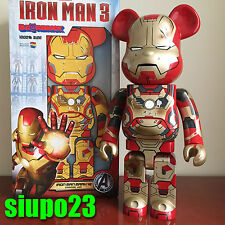Medicom 1000% Bearbrick ~ Marvel Ironman Mark XLII Mark 42 Damage Ver Be@rbrick