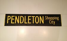 "Manchester Bus Blind (30"") Black & Yellow - Pendleton Shopping Centre"
