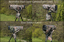 Dual Layer Kanati Camo Camera/Lens Cover for Canon 100-400  MK I & II, Water/P