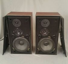 B&O Beovox S45-2 Bang and Olufsen 3-Way Passive Loud Speakers T6312 Good Shape
