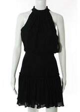 NWT ELIZABETH AND JAMES Black Sleeveless High Neck Carlita Dress Sz 4 $395