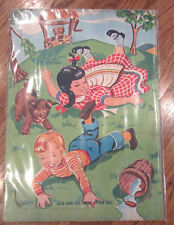 Fairchild Frame Tray Puzzle Jack And Jill Went Up The Hill Vintage Cardboard