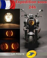 PHARE / FEUX Avant Rond + SUPPORT FIXATION - Moto Light Headlight LED