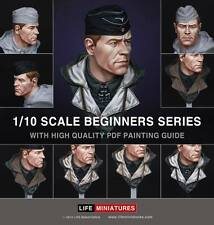 Life Mins Panzer Commander WW2 + painting download 1/10th Bust Unpainted kit