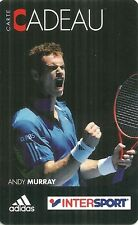RARE / CARTE CADEAU : ANDY MURRAY - TENNIS / INTERSPORT / ADIDAS - CARD