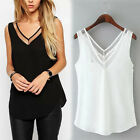 Women V-Neck Vest Summer Loose Chiffon Sleeveless Tank T-Shirt Top Blouse Trendy