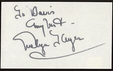 Evelyn Keyes Signed Index Card Signature Autographed Vintage Gone with the Wind