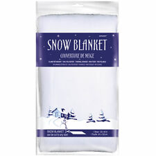 """40"""" Christmas Party Frozen Winter White Snow Blanket Table Decoration"""