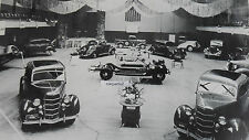 "12 By 18"" Black & White Picture Ford 1935 - European Auto Expo, Showroom"