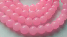 6mm Jade Style Glass Bead Strands Jewellery Making Pink