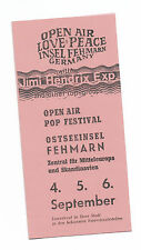 JIMI HENDRIX  ISLE OF FEHMARN 4 PAGE FOLD OVER (CARD STOCK REPRO) REPRO TICKET