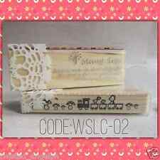 Stamp/Wooden Stamp: Cute Design [Code: WSLC-02]