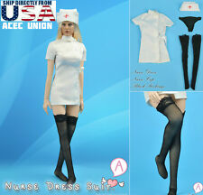1/6 Sexy Nurse Uniform Dress Set A For Phicen Hot Toys Female Body U.S.A. SELLER