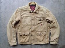 Abercrombie & Fitch Work Barn Chore Jacket Size XL Blanket Lined Brown Military