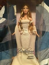 #7466 NRFB Barbie Birthstone Collection June Pearl Barbie