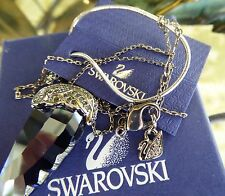 "NEW& RARE! SWAROVSKI DARK INDIGO PROMISE ""WING"" NECKLACE w/ Crystal Pave Accents"