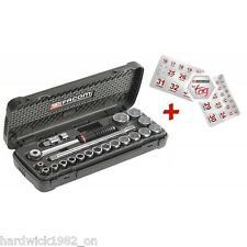 FACOM TOOLS SALE 1/2 DRIVE METRIC 8mm - 32mm SOCKET RATCHET TOOL SET