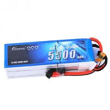 Gens Ace 4S 5500mAh 14.8V 45C 4S1P Lipo Battery Pack with Deans Plug End