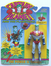 CAPTAIN PLANET & THE PLANETEERS W/COLOR CHANGE TIGER TOYS 1991 MOC FREE CASE