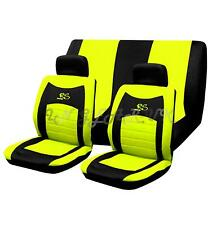 YELLOW 6pc RS RACING Sporty Cool Mesh Style Car Seat Cover Set UNIVERSAL Fit New