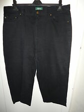 LADIES BLACK CAPRI/CROPPED JEANS/TROUSERS BY RALPH LAUREN SZ US 16W UK 18/20