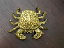 Aschenbecher aus Messing - Krabbe - groß !!