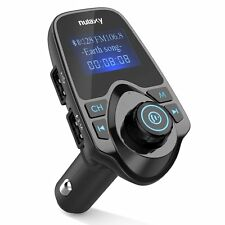 Upgraded Nulaxy Wireless In-Car Bluetooth FM Transmitter Radio Adapter Car Kit