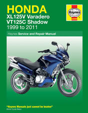 Haynes Manual 4899 Honda XL125V Varadero & VT125C Shadow 1999 - 2011 NEW