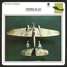 SCHEDA TECNICA AEREO - HEINKEL He 115 - GERMANIA