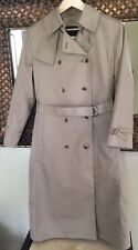 Womens 8P LONDON FOG Beige•LONG•Double Breasted TRENCH Coat WOOL lined Orig.$178